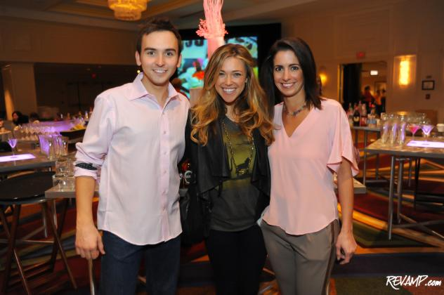 94.7 Fresh FM's Tommy McFLY and Kelly Collis flank recording artist Rachel Platten.